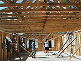 Project Crossroads volunteers build a new home.